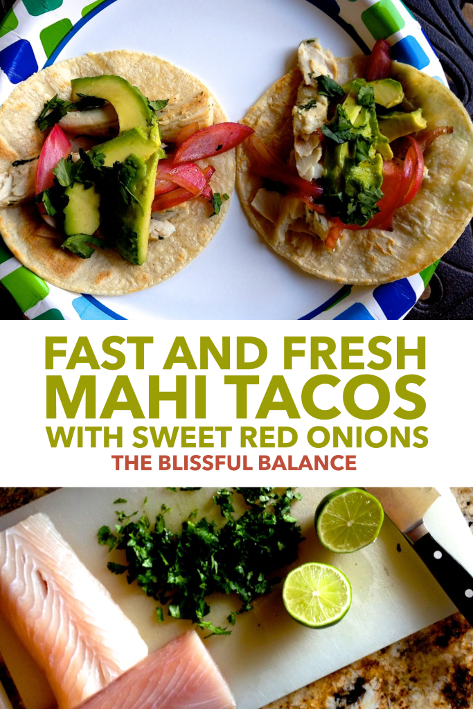 Mahi Tacos with Sweet Red Onion
