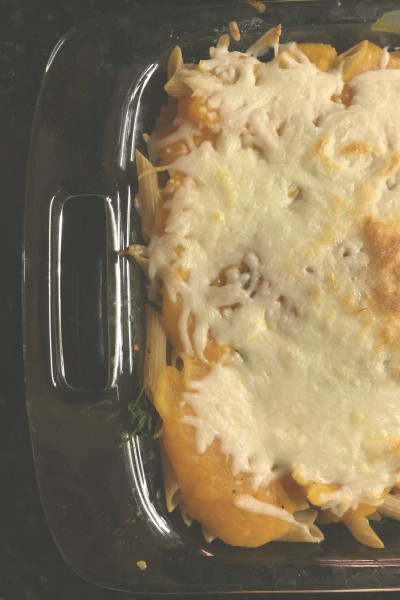 Baked Penne with Butternut Squash Sauce