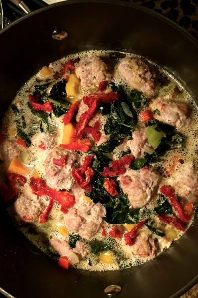 Turkey, Kale, and Meatball Soup