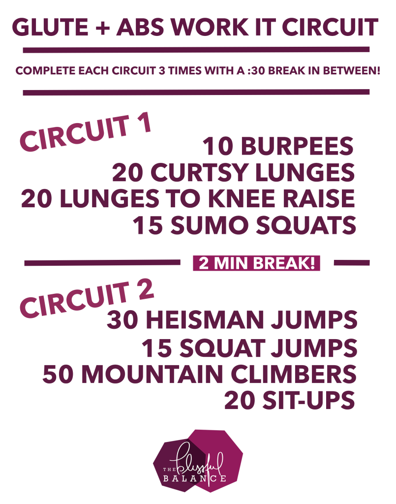 Glute and Abs Work It Circuit