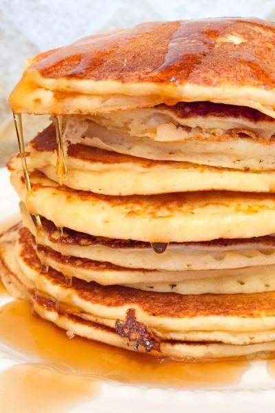 Whole Wheat Lemon Ricotta Pancakes
