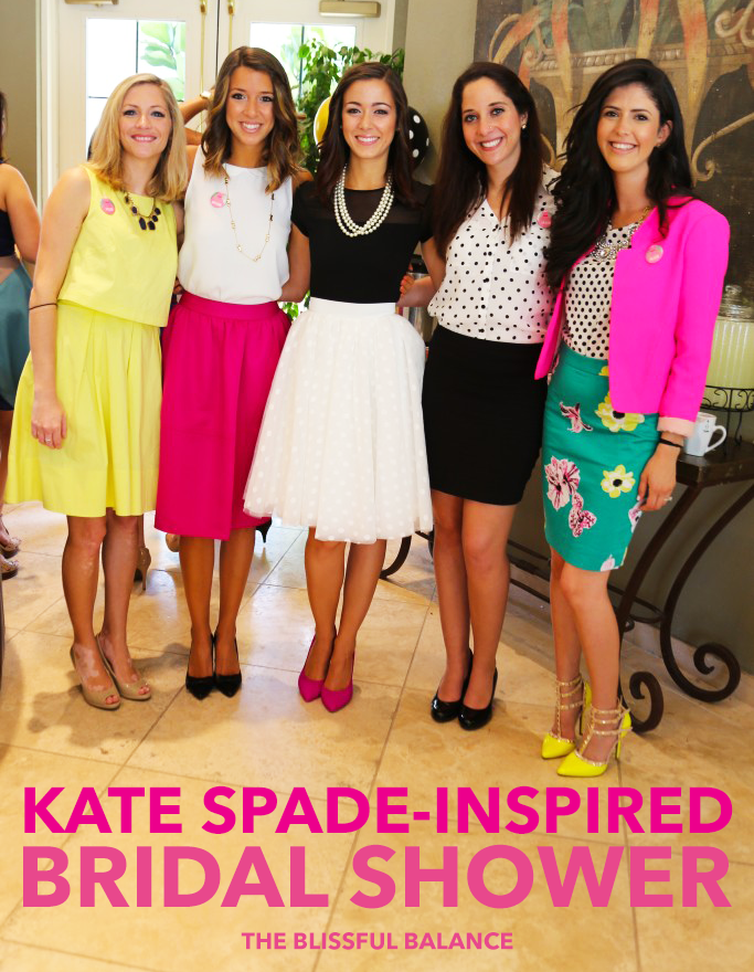 kate spade inspired bridal shower