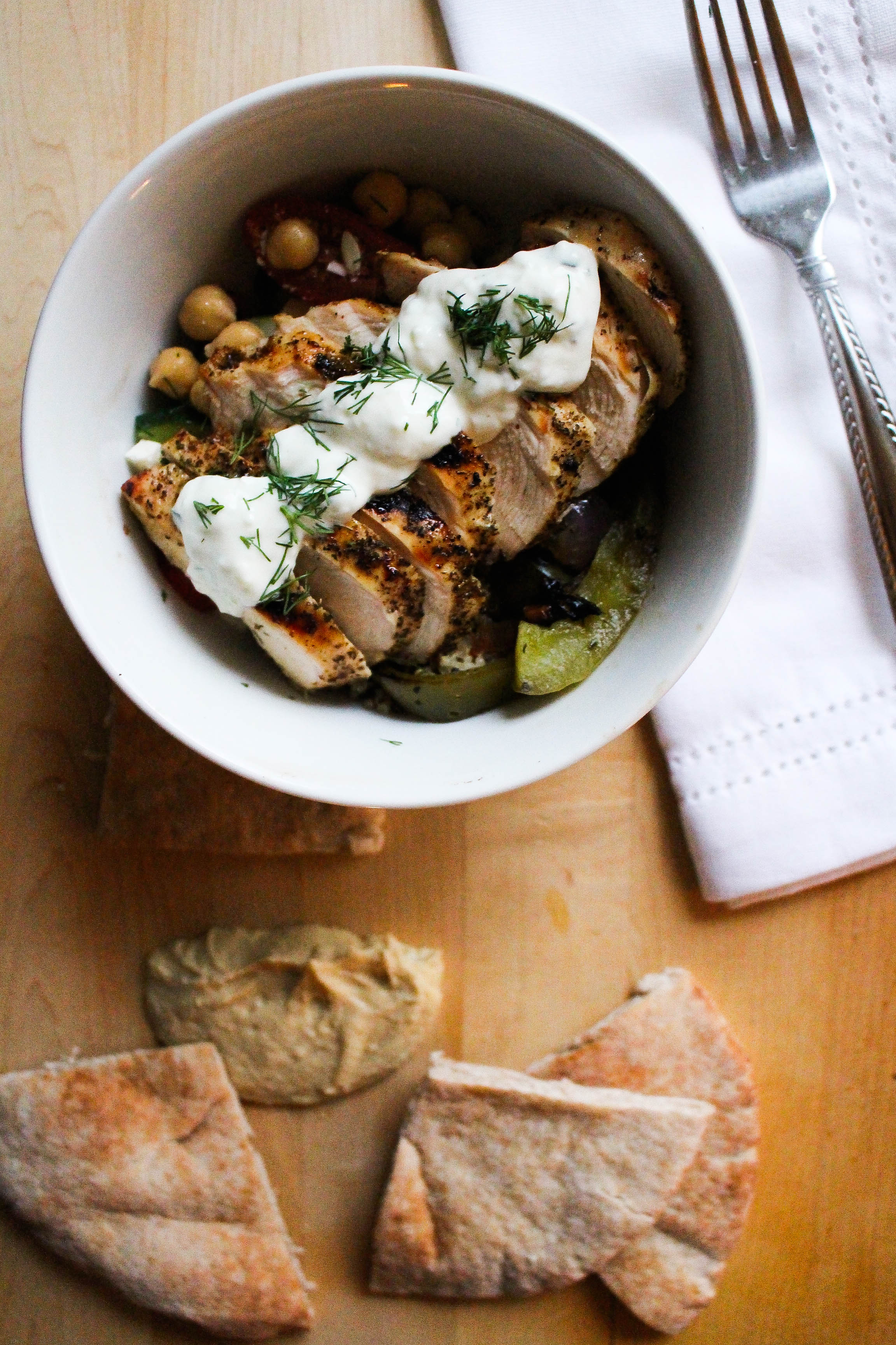 Greek-Inspired Chicken Bowl