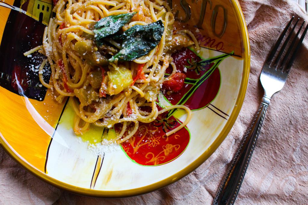 spaghettieggplantricotta