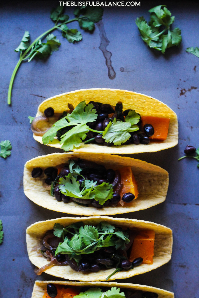 Easy Butternut Squash and Black Bean Tacos
