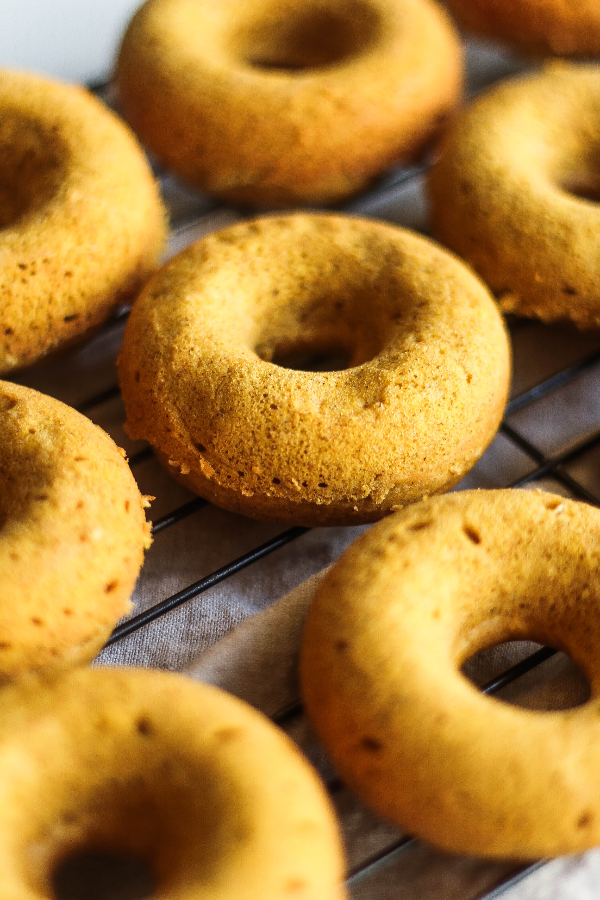 Protein Pumpkin Donuts with Cashew Frosting