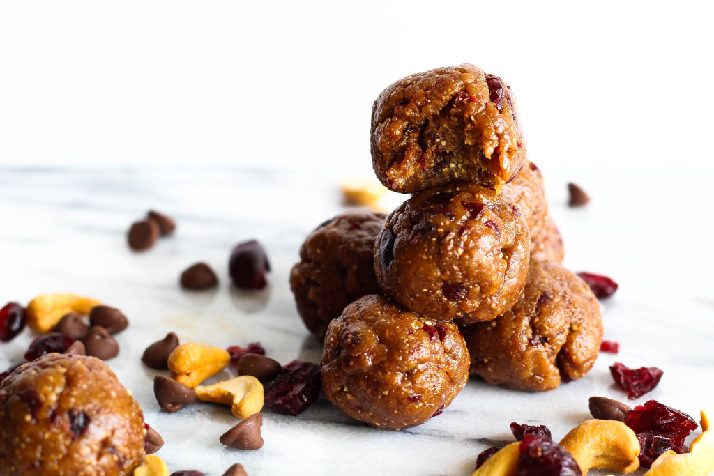 These gooey, chewy, cranberry chocolate energy balls are your next pre-workout energy boost, or the answer to your late night sweet tooth craving.