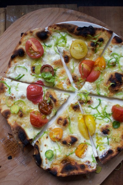 Brussels Sprouts and Tomato Pizza