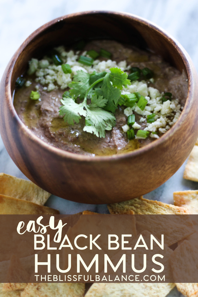 Easy Black Bean Hummus | the blissful balance