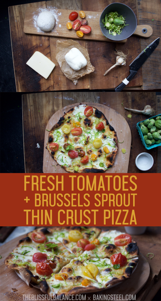 Fresh Tomatoes + Brussels Sprout Thin Crust Pizza