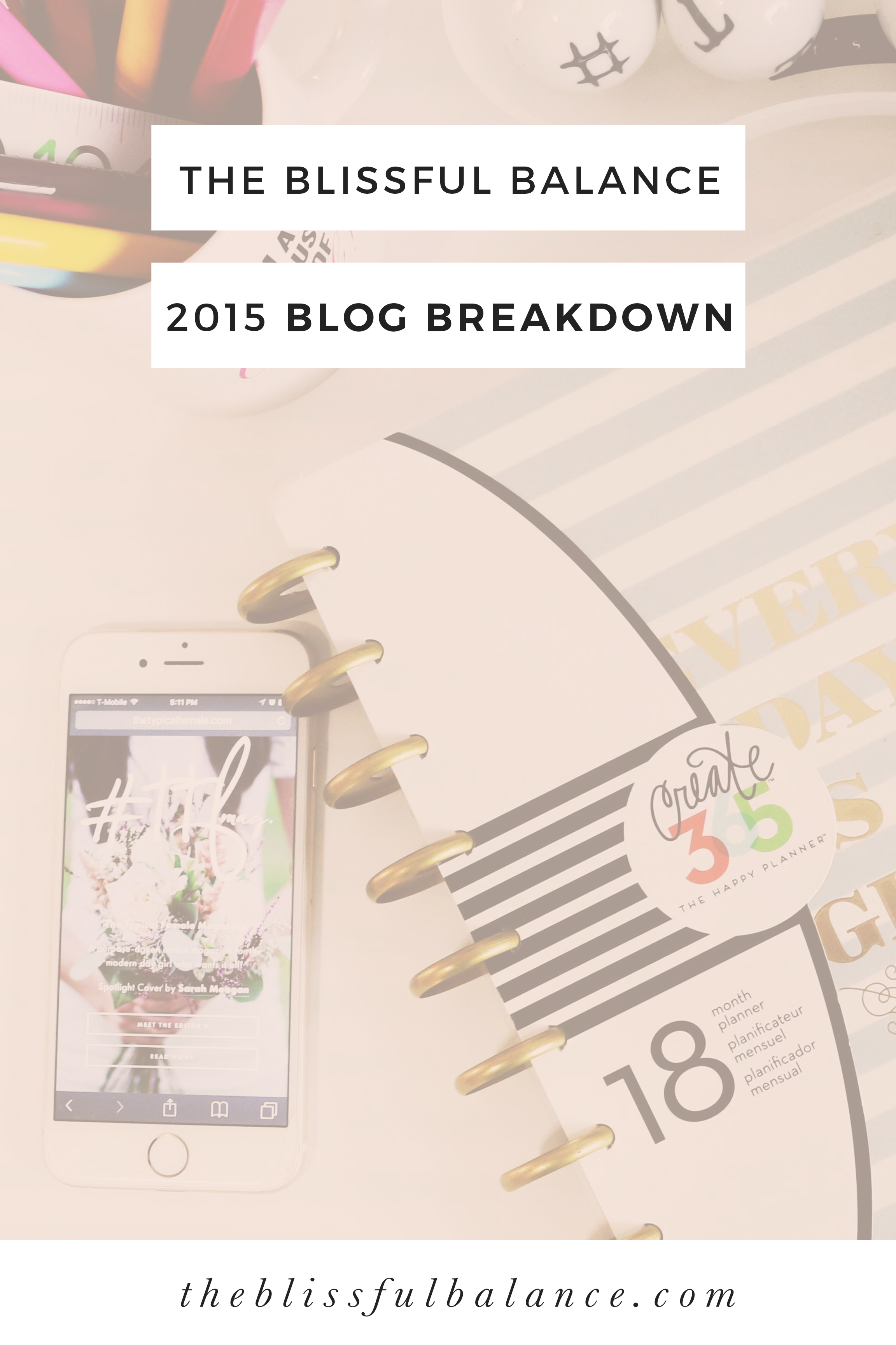 2015 The Blissful Balance Blog Breakdown, from blog traffic growth to top recipes to lifestyle posts.