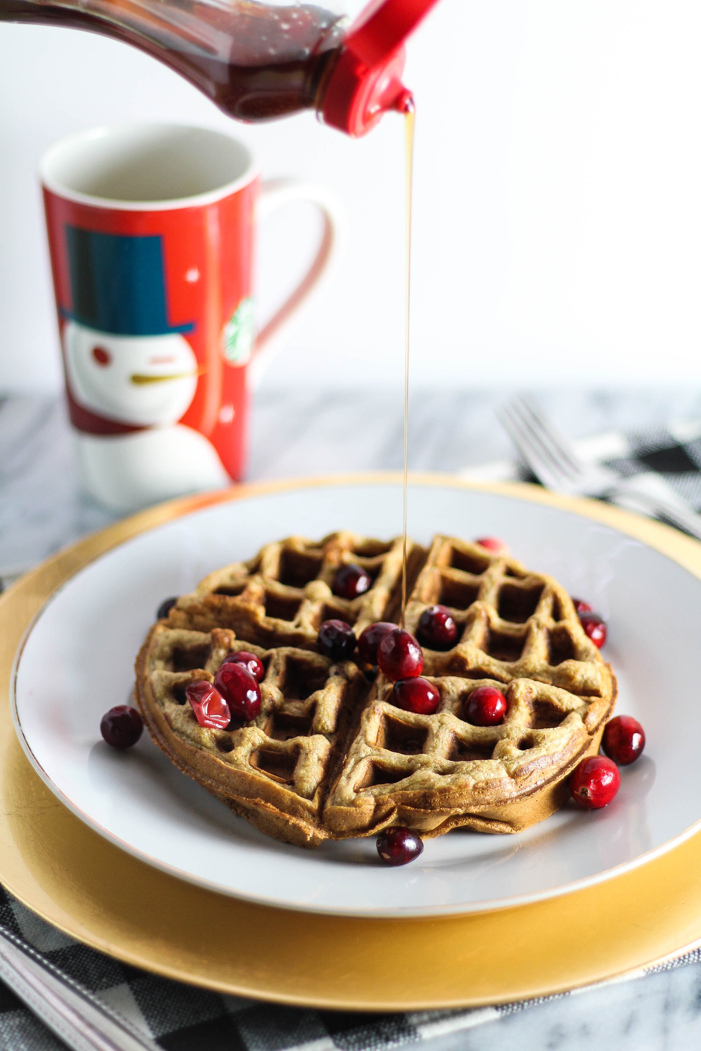 Cranberry Orange Waffles