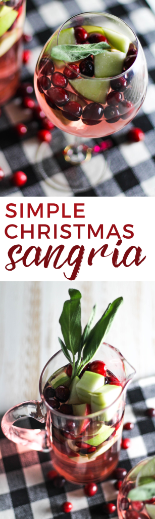 This Simple Christmas Sangria is the perfect party cocktail to enjoy this holiday season!