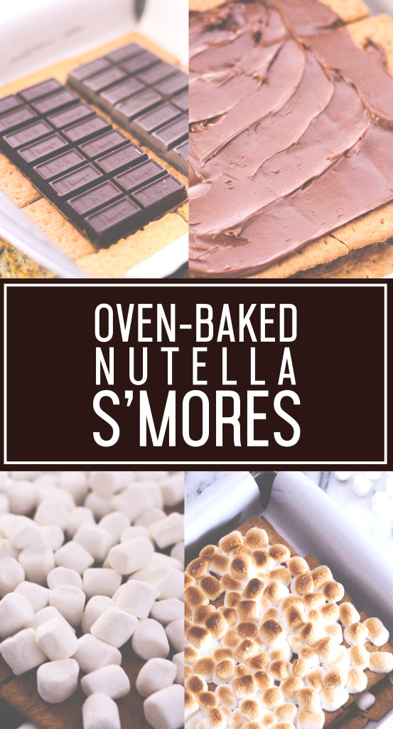 4-Ingredient Ove-Baked Nutella S'Mores