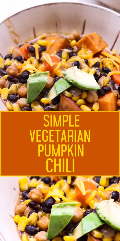 Simple Vegetarian Pumpkin Chili