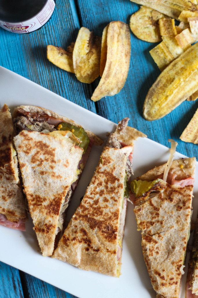 Cuban Quesadilla with Slow-Cooked Pork
