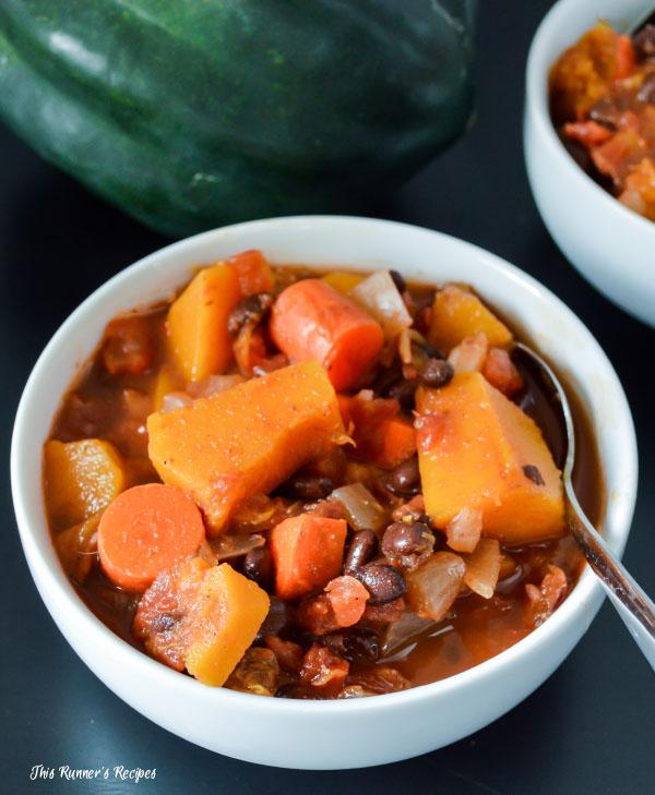 Black Bean Acorn Squash Chili