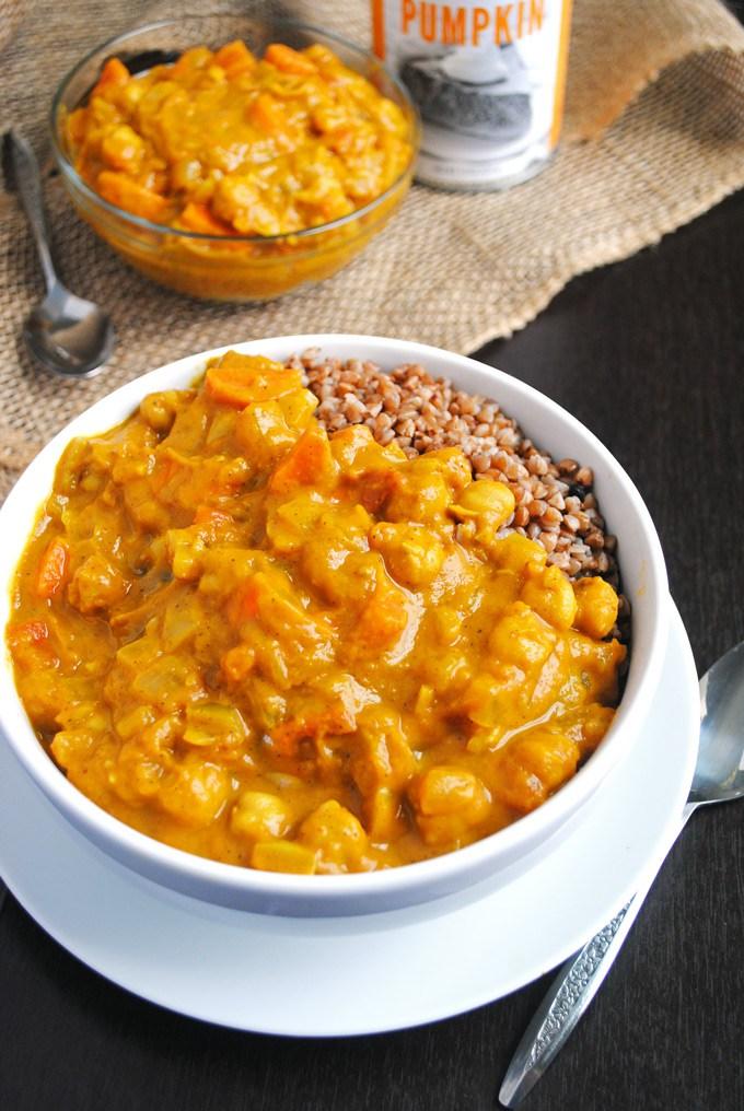 Chickpea Pumpkin Coconut Curry