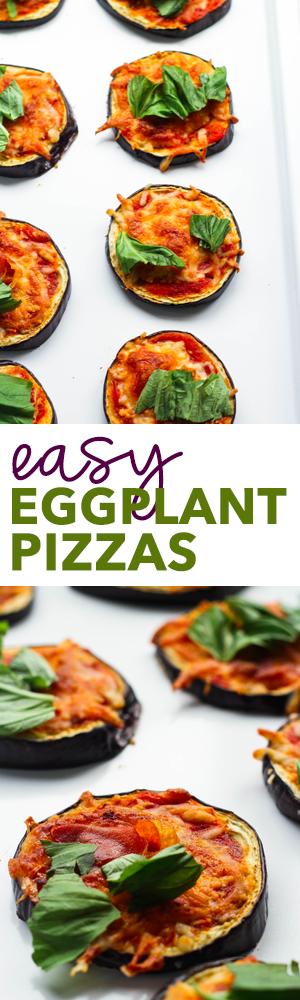 5-Ingredient Mini Eggplant Pizzas