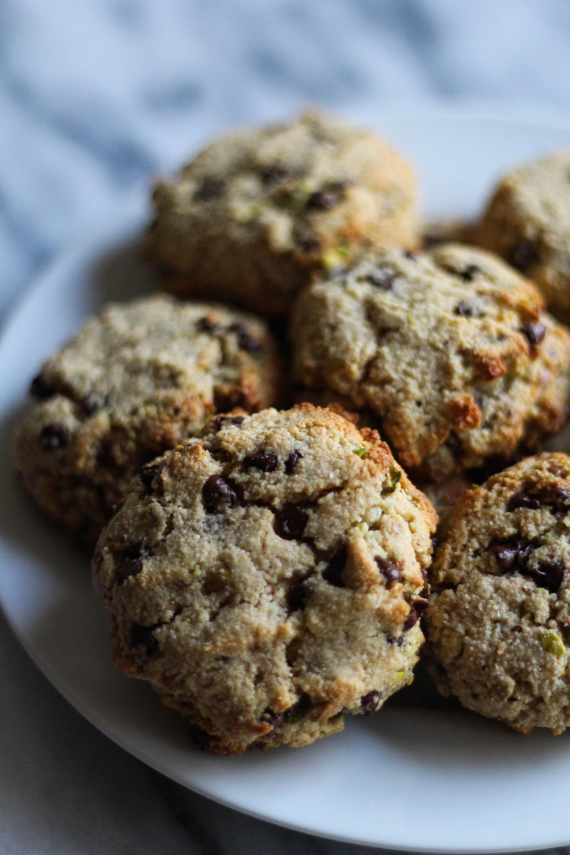 Gluten-Free Ricotta-Stuffed Pistachio Chocolate Chip Cookies