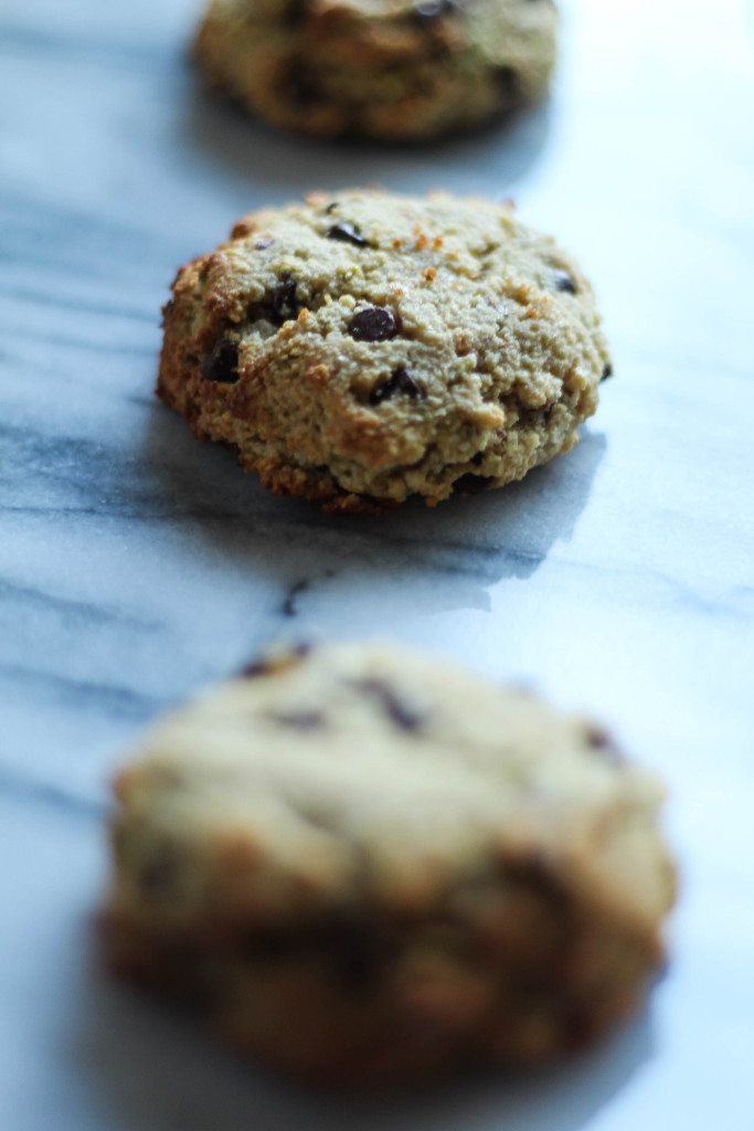 Gluten-Free Ricotta-Stuffed Pistachio Chocolate Chip Cookies