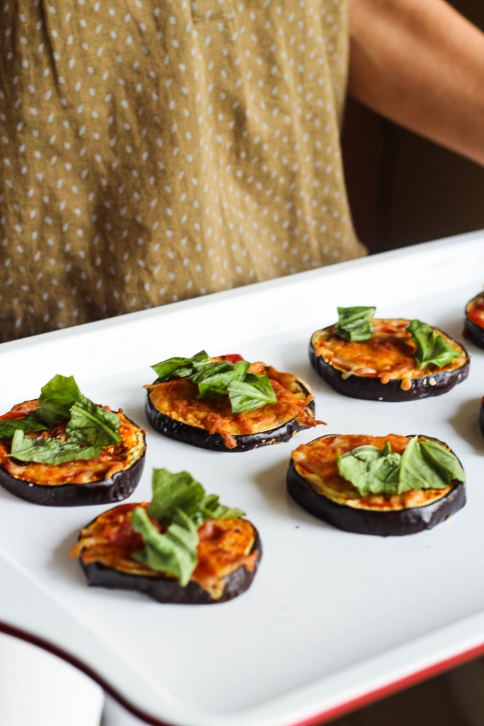 5-Ingredient Mini Eggplant Pizzas
