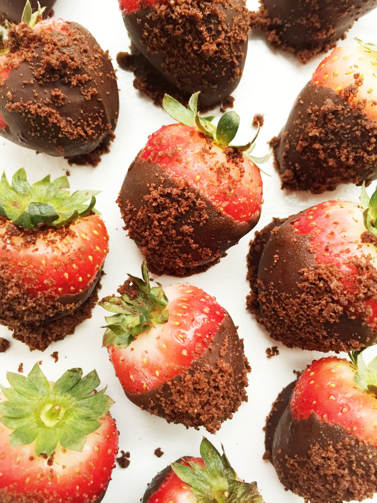 Cookie Dusted Strawberries