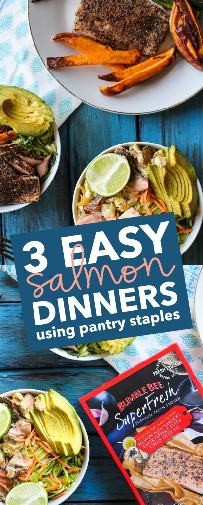 3 Easy Salmon Dinners Using Pantry Staples
