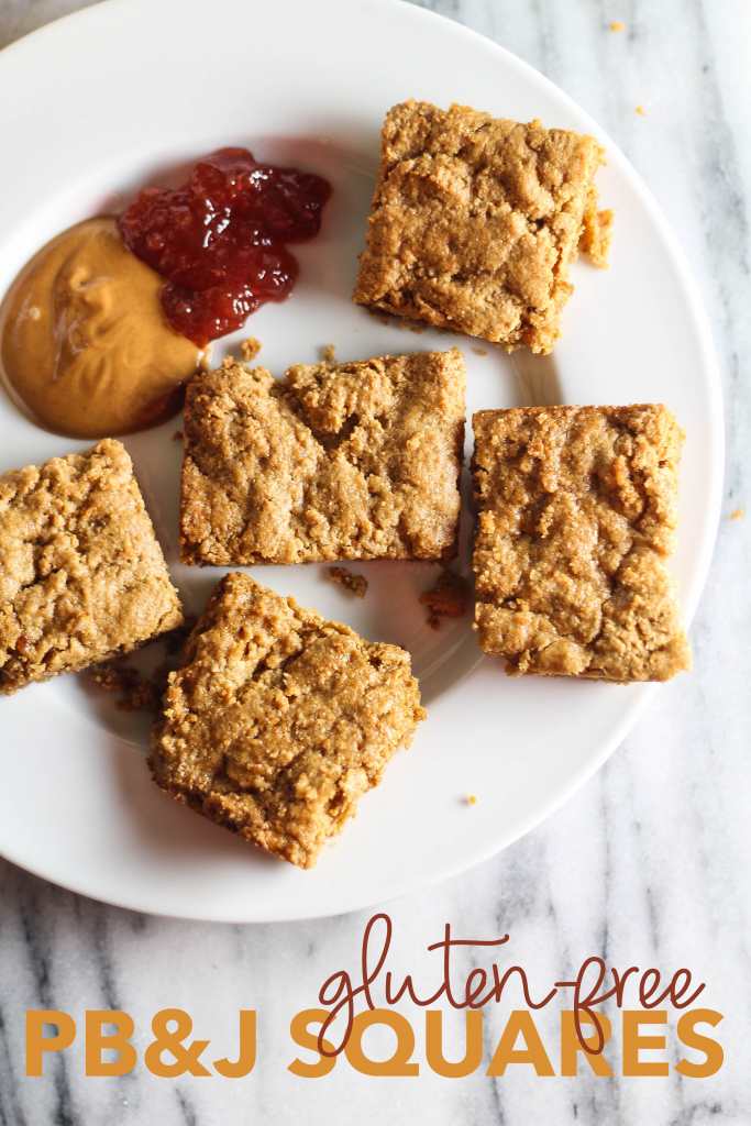 Gluten-Free Peanut Butter and Jelly Squares