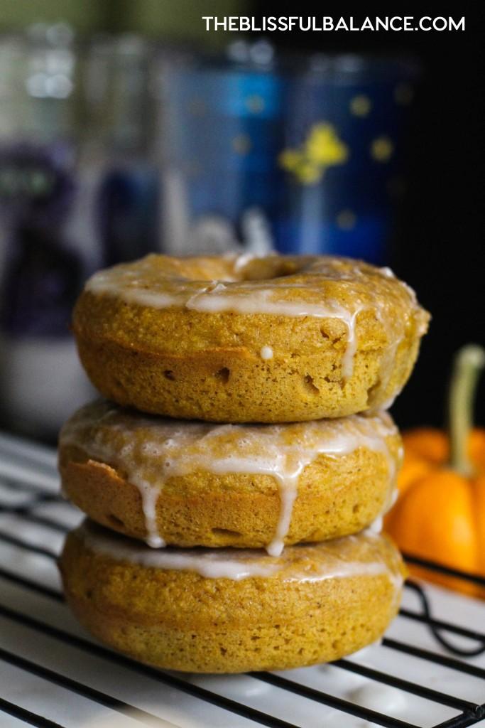 Glazed Protein Pumpkin Donuts