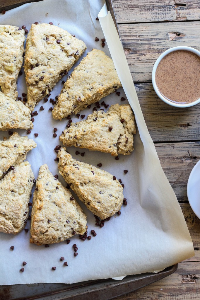 Chocolate Chip Banana Bread Scones | the blissful balance