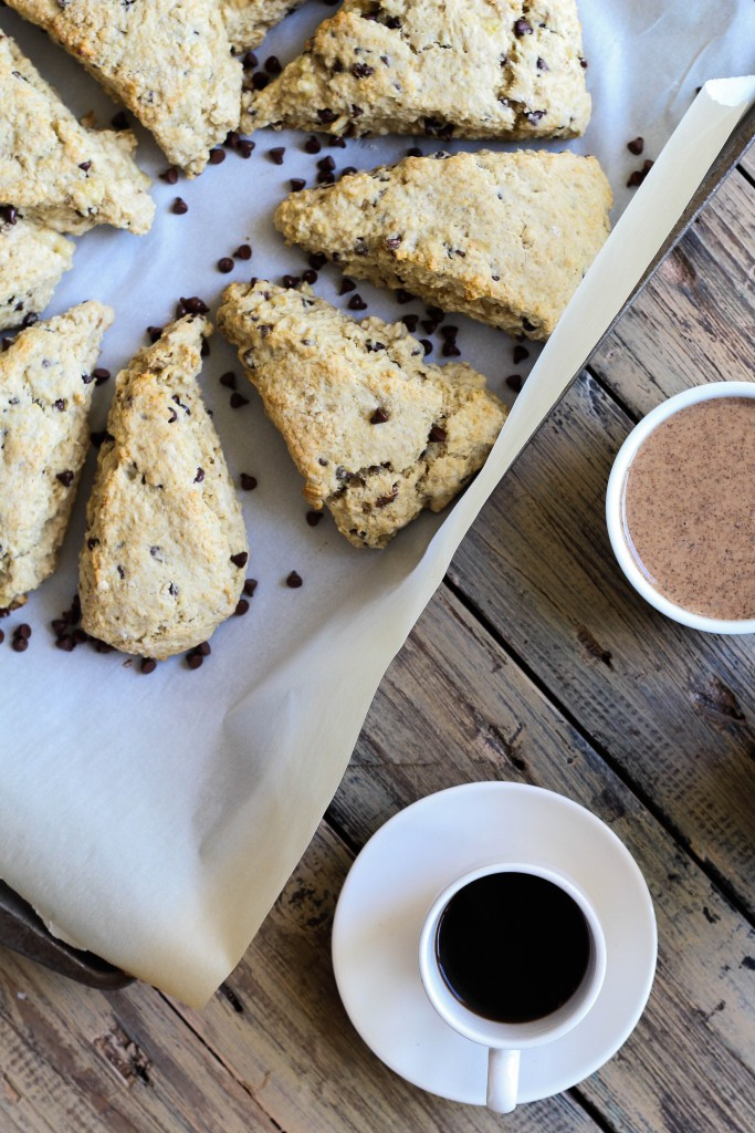 Chocolate Chip Banana Bread Scones