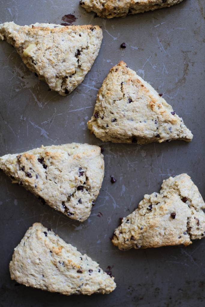 easy it is to make scones. These Chocolate Chip Banana Bread Scones ...