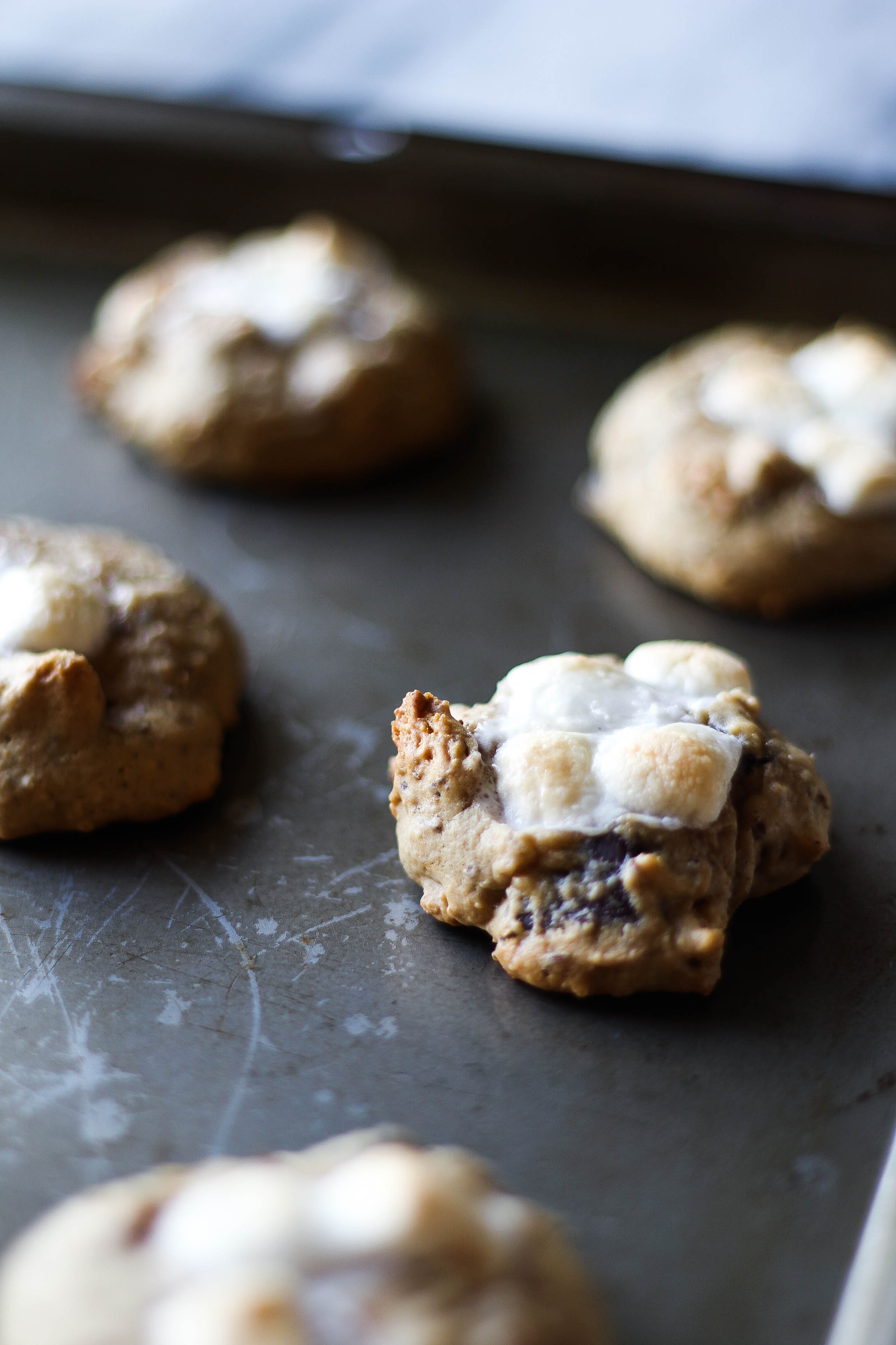 Dark Chocolate Chunk S'mores Cookies