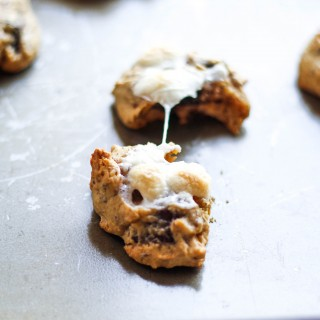 Dark Chocolate Chunk S'mores Cookies
