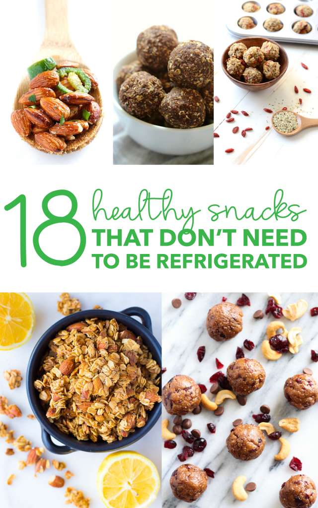 18 Healthy Snacks That Don't Need to be Refrigerated
