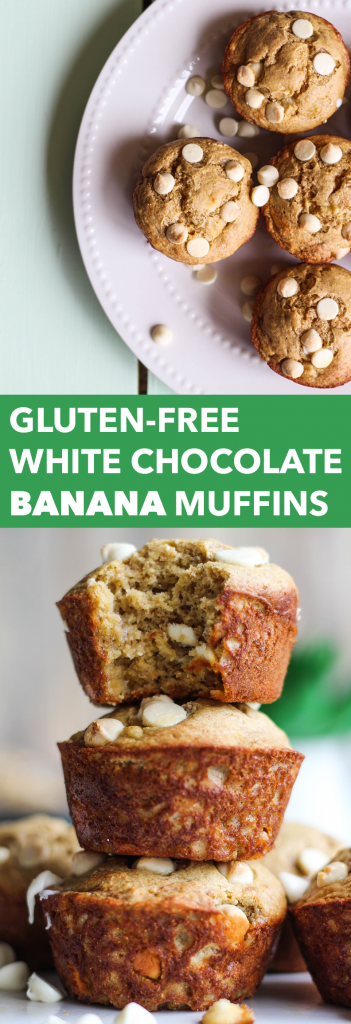 Gluten-Free White Chocolate Banana Muffins