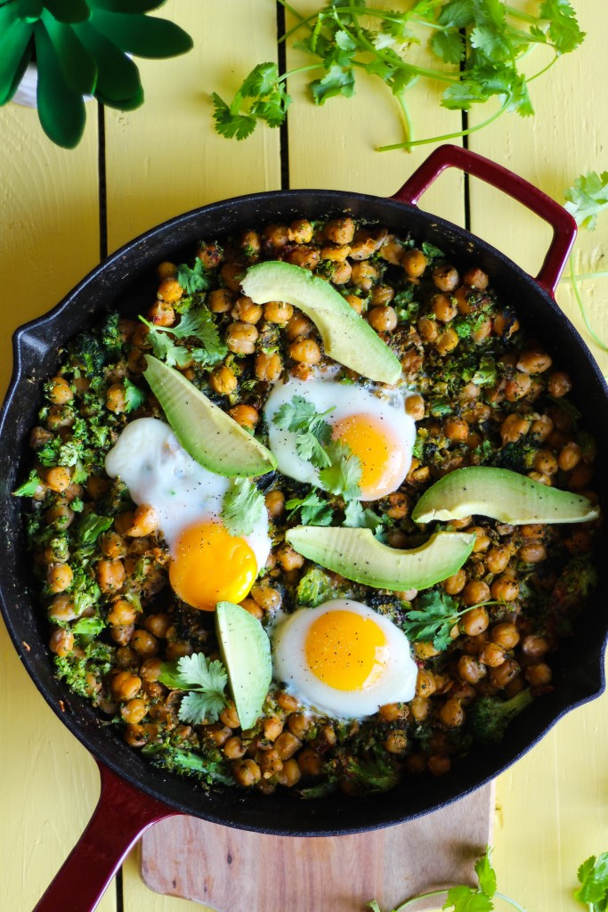 "Skillet Chickpeas with Broccoli ""Rice"""