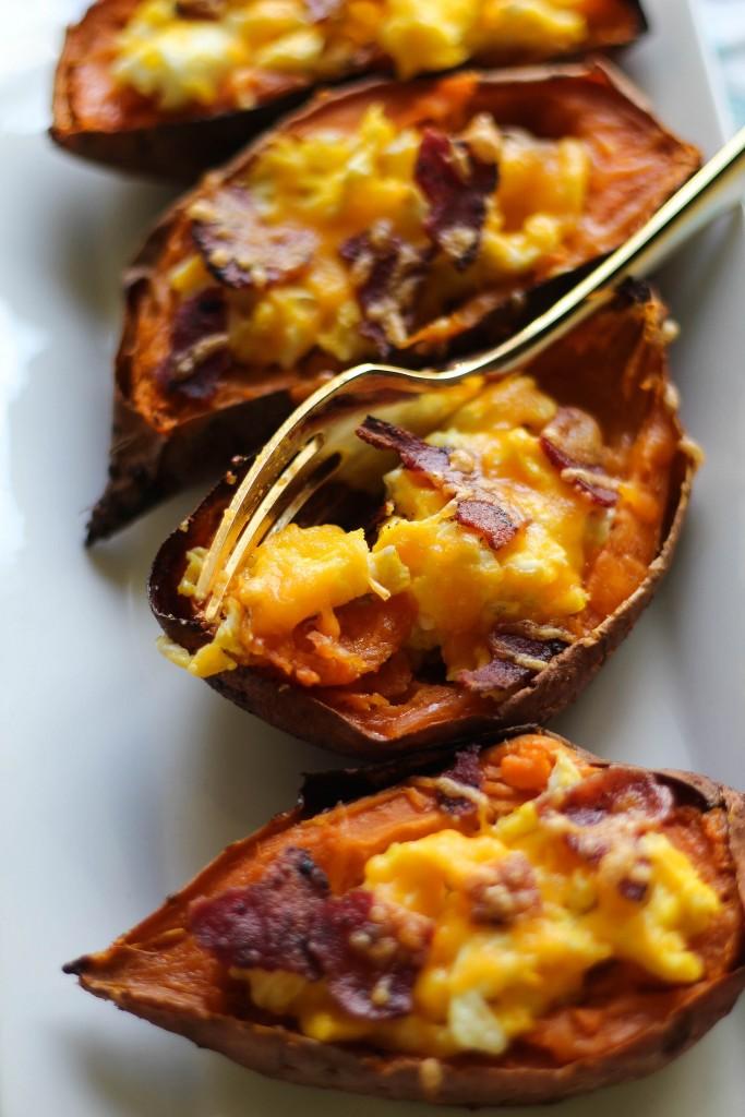 Egg-Stuffed Sweet Potatoes
