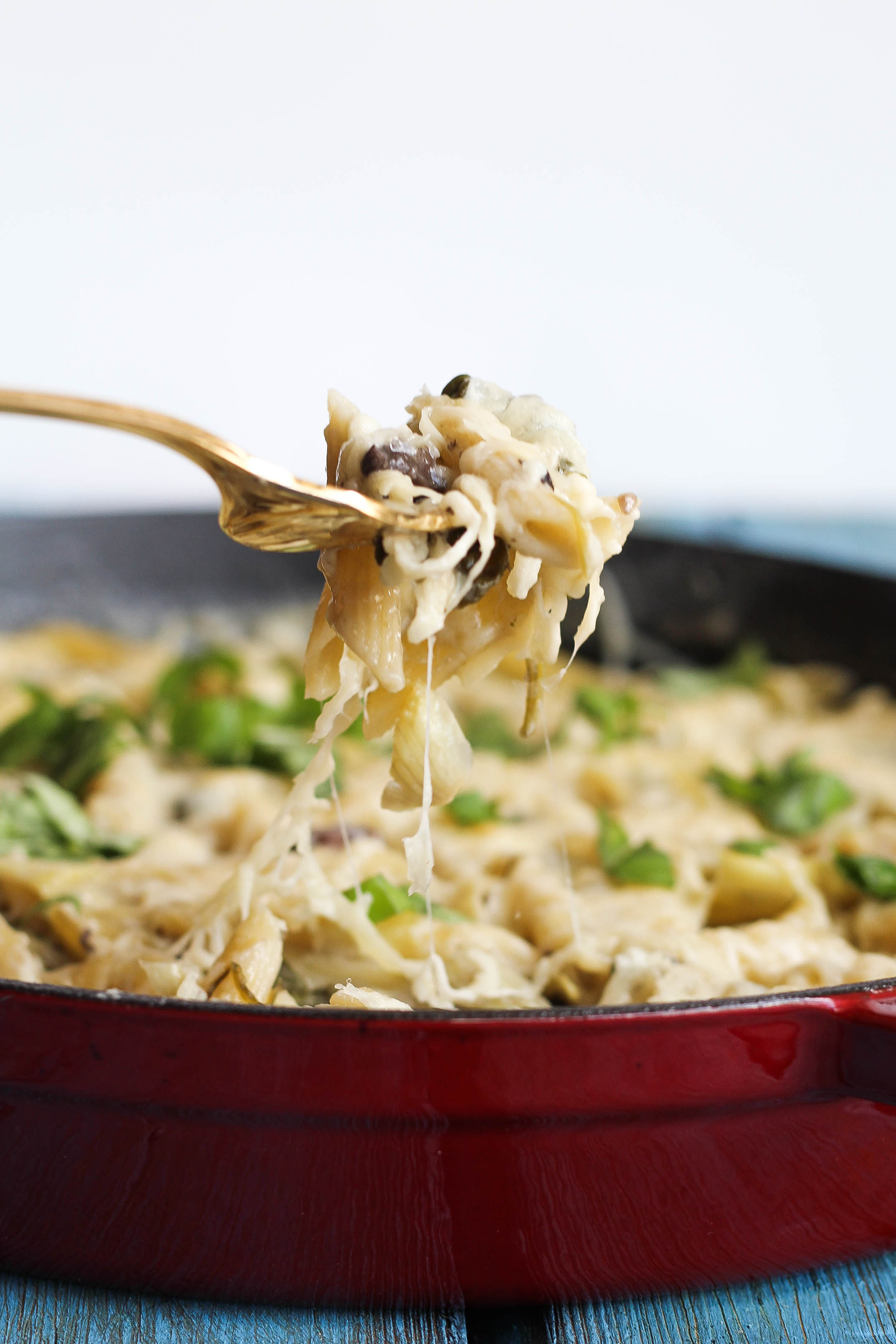 Spinach Artichoke Baked Penne