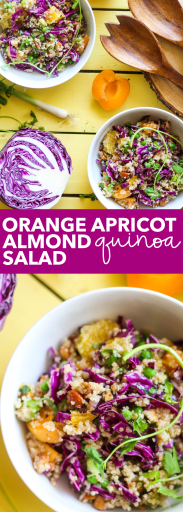Orange Apricot Almond Quinoa Salad