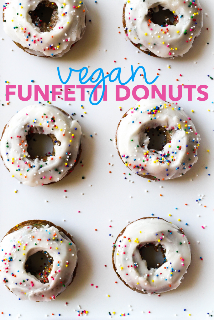 Vegan Funfetti Donuts with Coconut Buttercream