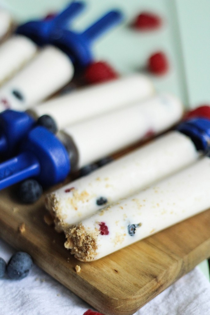 Berry Cheesecake Popsicles