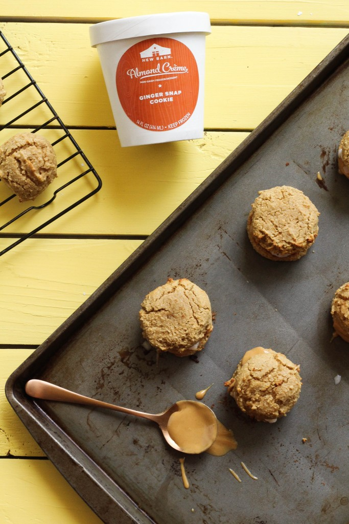 Ginger Snap Ice Cream Sandwich Cookies