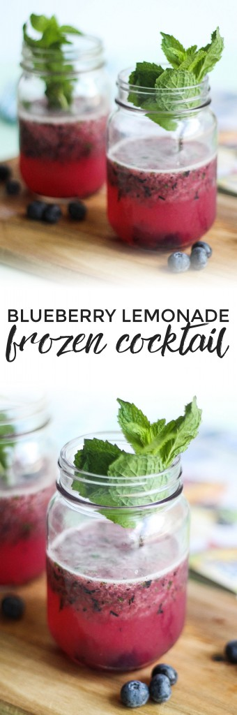 Blueberry Lemonade Frozen Cocktail