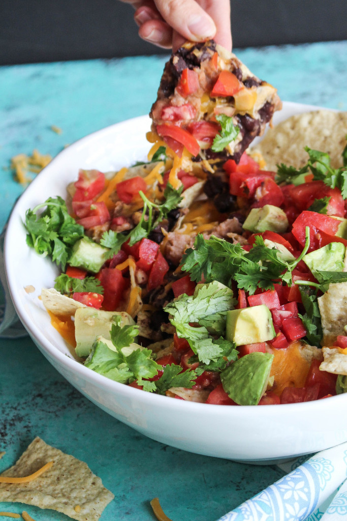 Lightened Up Nachos