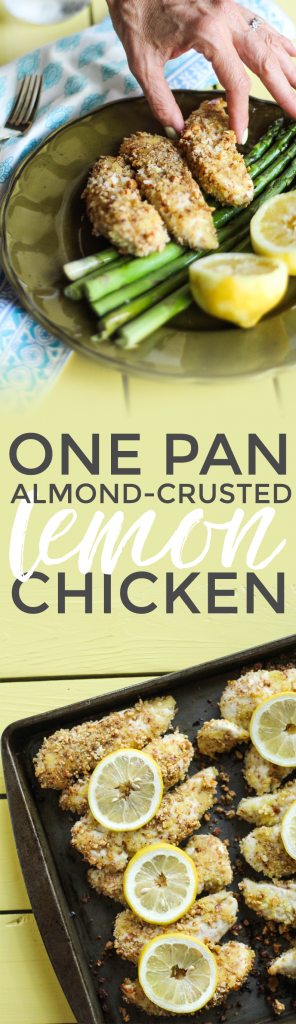 One Pan Almond-Crusted Lemon Chicken