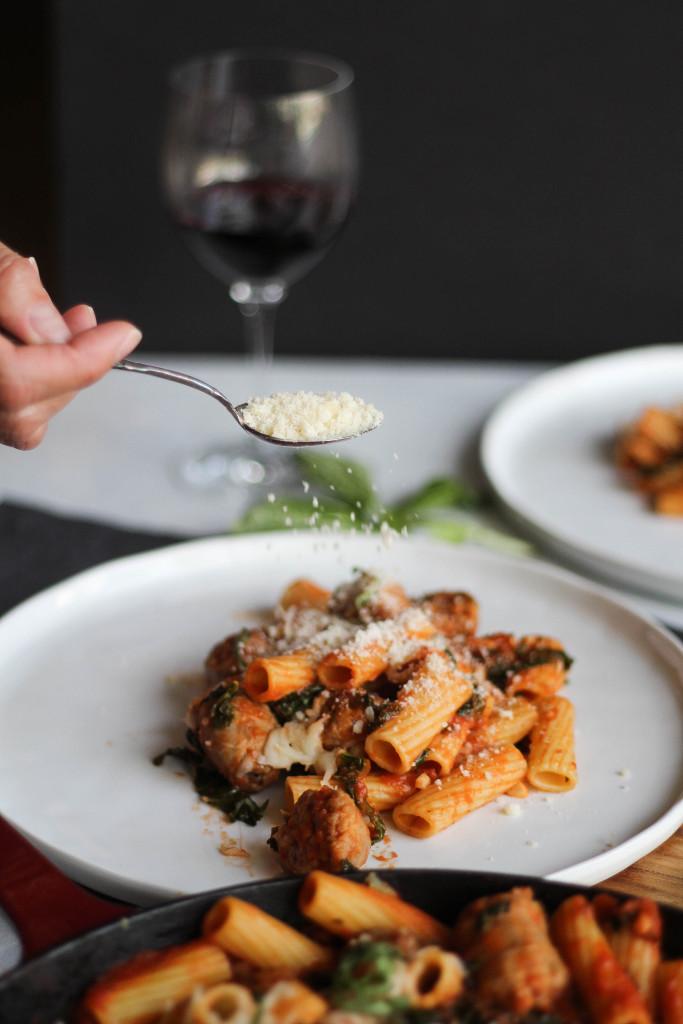 Italian Sausage and Kale Rigatoni