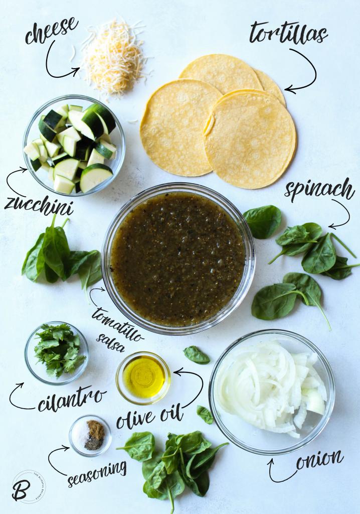 Skillet Veggie Enchiladas