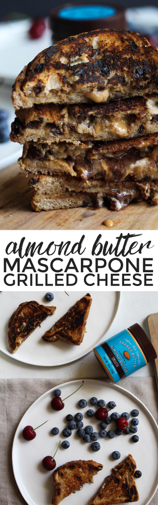 Almond Butter Mascarpone Grilled Cheese